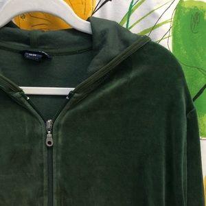 Lane Bryant/Venezia Jeans Velour Zip Front Hoodie